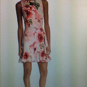 NWT Aqua Bloomingdales floral ruffled dress